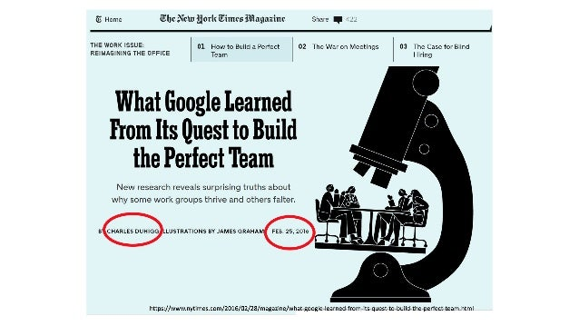 Google's Project Aristotle What characterizes high performing teams? •Combining the best people? Nope •Introverts work bet...
