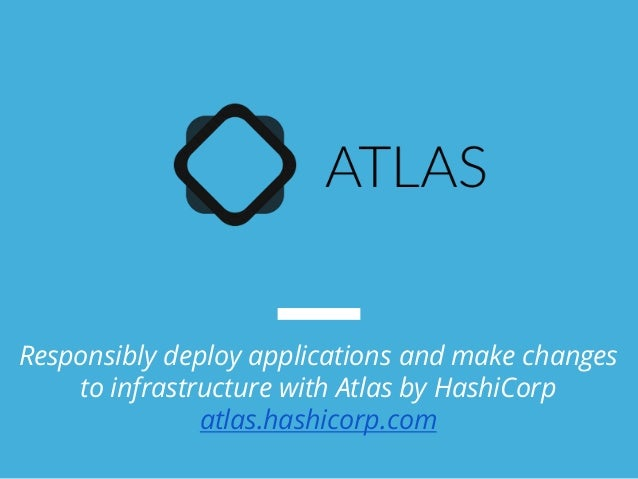 Manage aws infrastructure as code using terraform for Atlas hashicorp