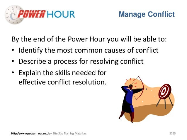 how to manage conflict pdf