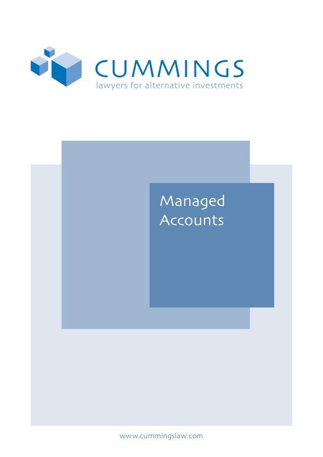 Managed Accounts  www.cummingslaw.com