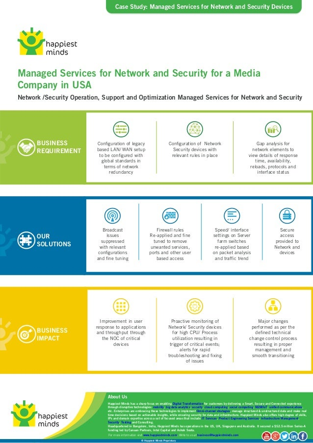 Case Study  Managed Services For Network And Security