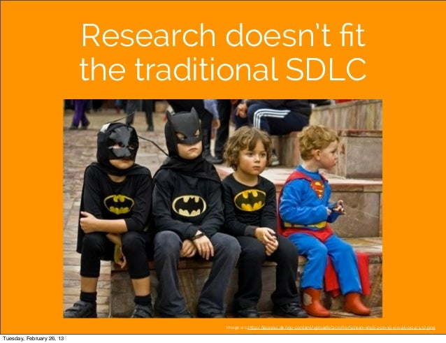 Research doesn't fit                           the traditional SDLC                                     image src:http://la...