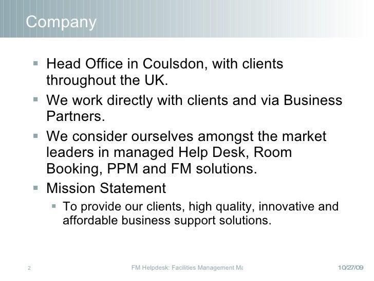 Managed Helpdesk PP Slides 2009 Slide 2