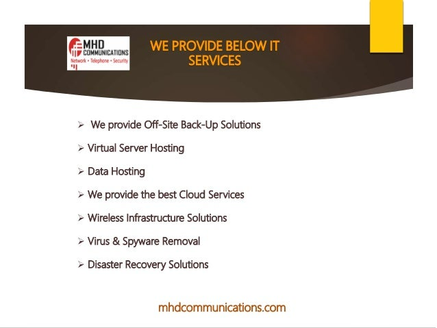 managed service provider - MHD Communications