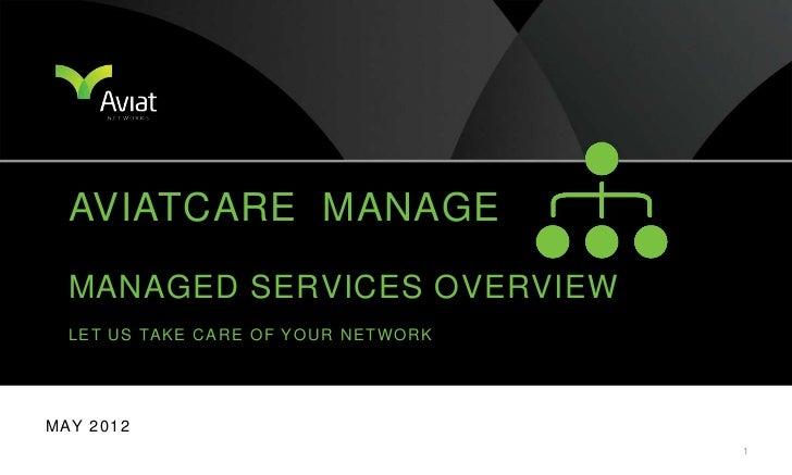 AVIATCARE MANAGE   MANAGED SERVICES OVERVIEW   L E T U S TA K E C A R E O F Y O U R N E T W O R KM AY 2 0 1 2             ...