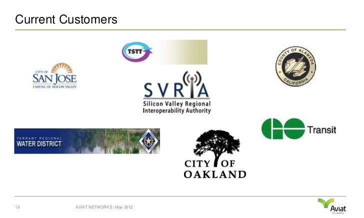 Current Customers19        AVIAT NETWORKS | May 2012