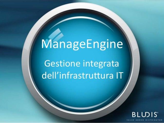 ManageEngineGestione integratadell'infrastruttura IT