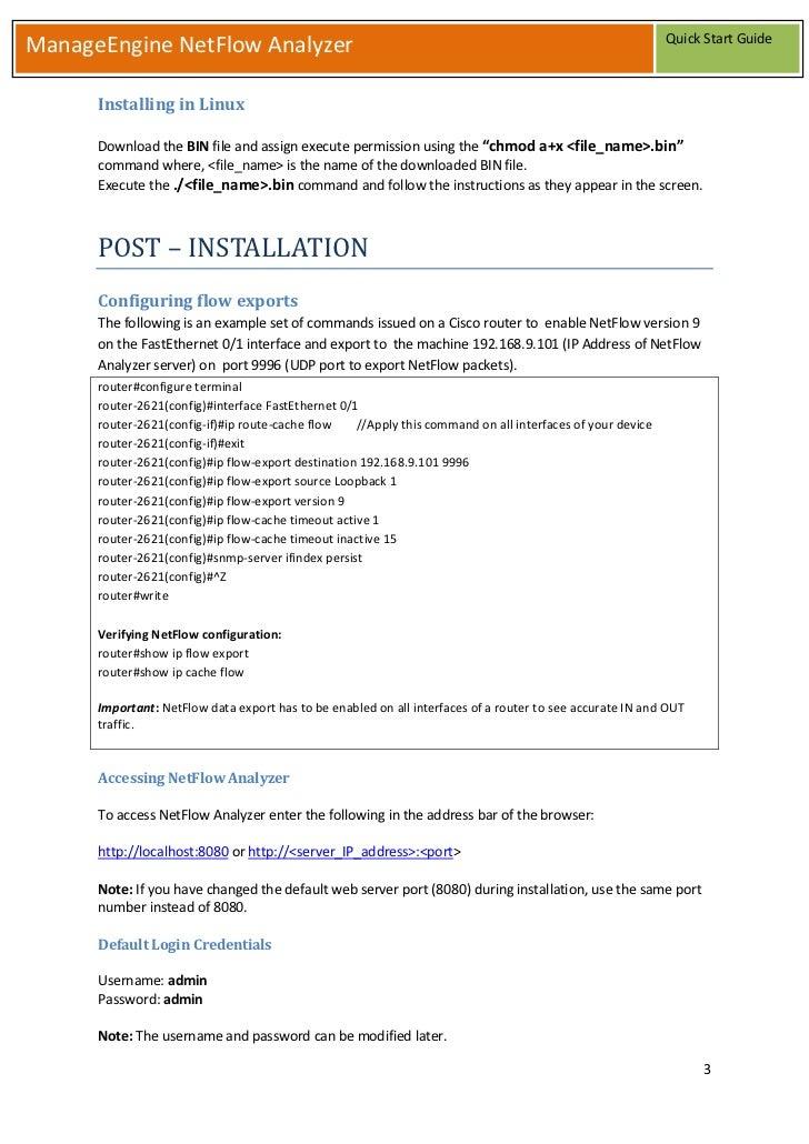 netflow analyzer linux keygen command