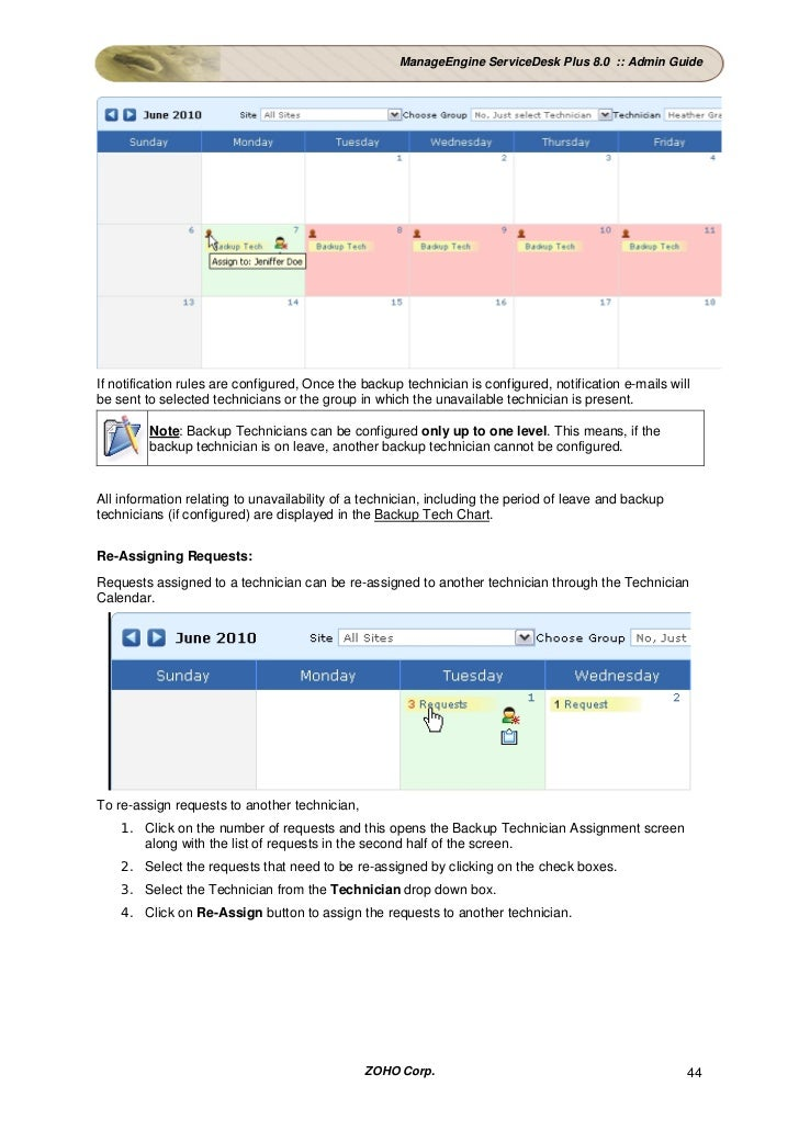 manageengine service desk admin manual