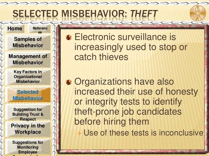 Managing Misbehavior