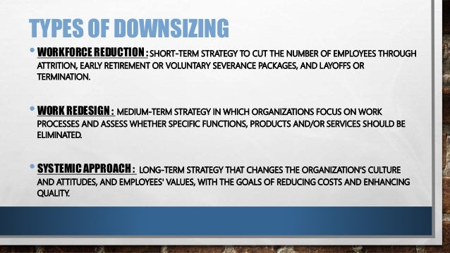 a discussion on the corporate downsizing International journal of applied hrm volume 2 issue 1 how to achieve successful downsizing: the need for corporate flexibility requires that more.