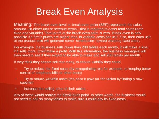Break Even Analysis Meaning: ... Within Define Breakeven Analysis