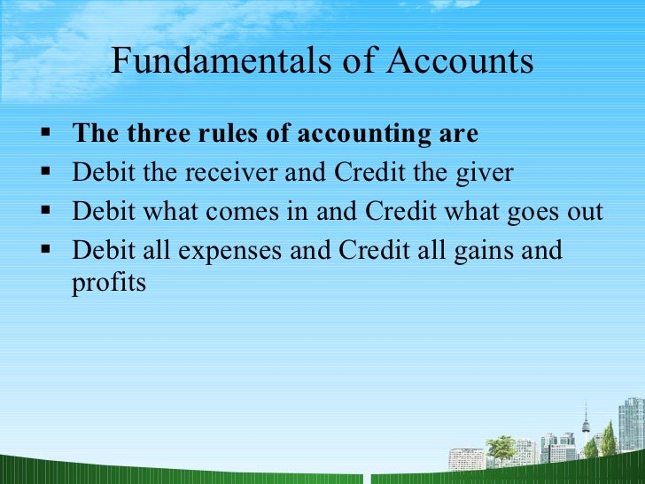 fundamentals of accounting For more content and question refer wwwafzalurcom here in this slide  fundamentals of accounting are discussed after study this slide you will.
