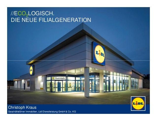 //ECO2LOGISCH. DIE NEUE FILIALGENERATION 1Januar 2014 | Handelsimmobilienkongress Christoph Kraus Geschäftsführer Immobili...