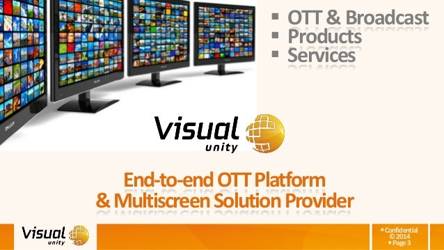 Confidential ©2014 Page3 End-to-endOTTPlatform &MultiscreenSolutionProvider  OTT &Broadcast  Products  Services