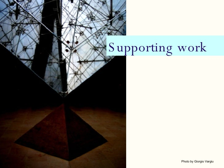 Supporting work Photo by Giorgio Vargiu
