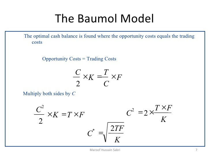 evaluation of baumol model and miller orr model Exhibit skills in estimating, evaluating and interpreting the working  15  optimum cash balances-models –miller- orr model 200 3000  16 baumol's  model.