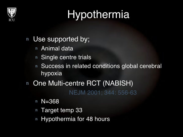 Hypothermia (body temperature cooling) for people with an injury to the brain