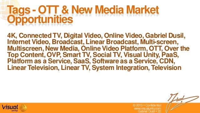 © 2013  Confidentialwww.visualunity.comGabriel Dusil  224K, Connected TV, Digital Video, Online Video, Gabriel Dusil,Int...