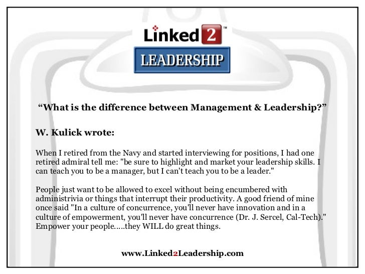 management vs leadership linked leadership 32