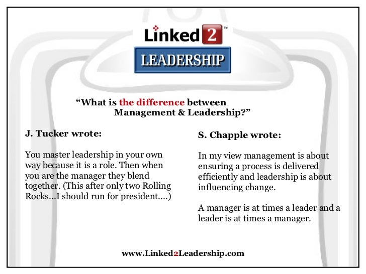 role of leadership and management in