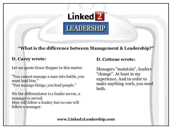 what is leadership to me