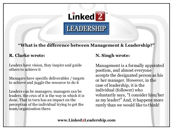 difference between a leader and a follower