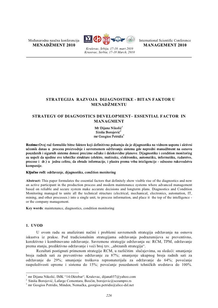 Međunarodna naučna konferencija                                            International Scientific Conference      MENADŽ...
