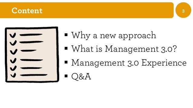 Management 3.0 A New Approach Slide 3