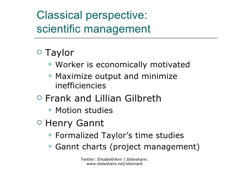 taylor s classical organization impact of the While taylor's work is judged by an organization, not individuals weber's studies of classical perspectives the classical approach to.