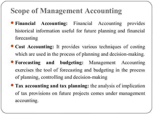 nature and scope of management accounting