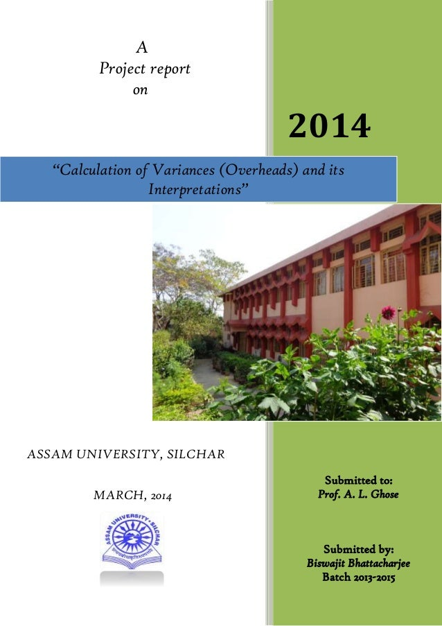 A Project report on ASSAM UNIVERSITY, SILCHAR MARCH, 2014 2014 Submitted to: Prof. A. L. Ghose Submitted by: Biswajit Bhat...