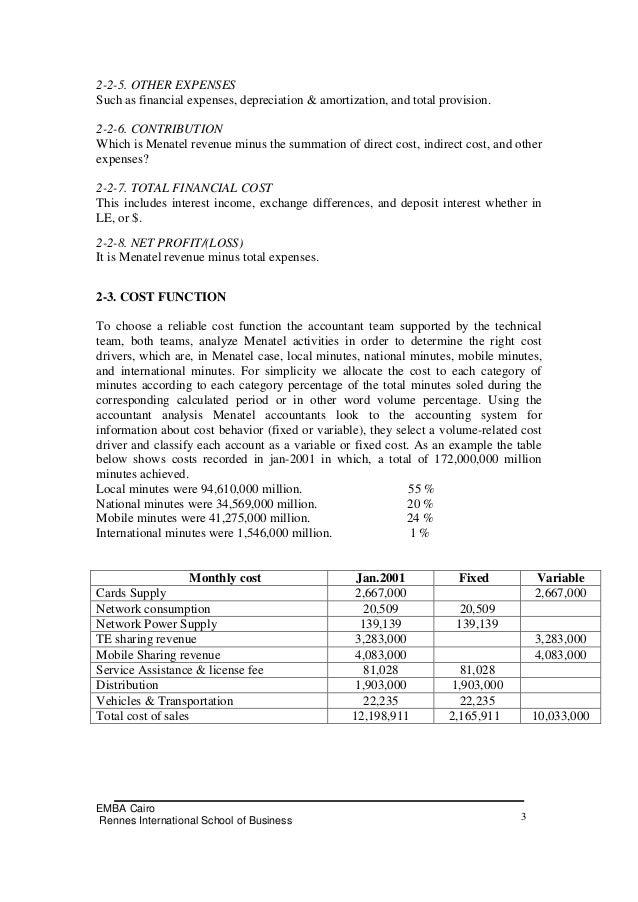 management accounts sample reports