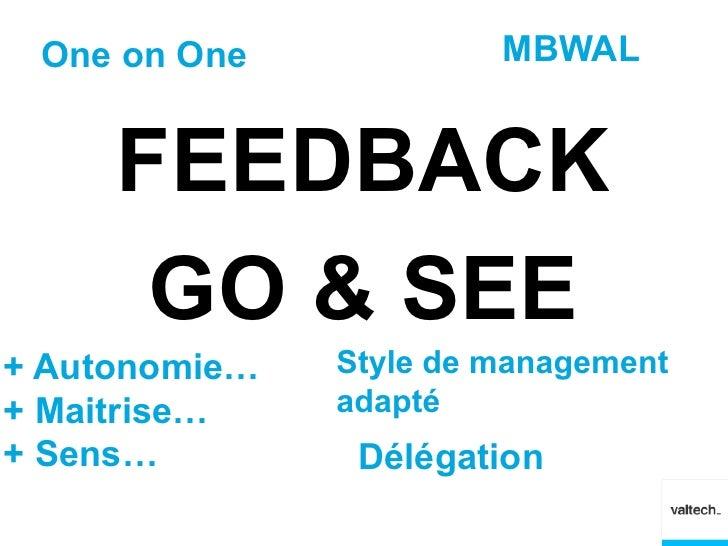 One on One             MBWAL     FEEDBACK      GO & SEE+ Autonomie…   Style de management+ Maitrise…    adapté+ Sens…     ...