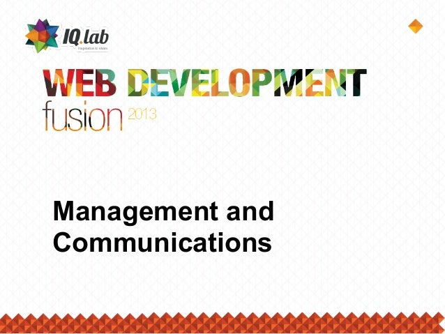 Management andCommunications