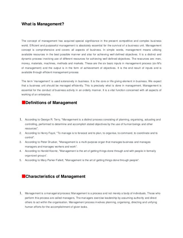 evolution of management concept
