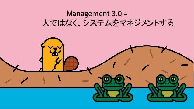 Management3.0=     人ではなく、システムをマネジメントする