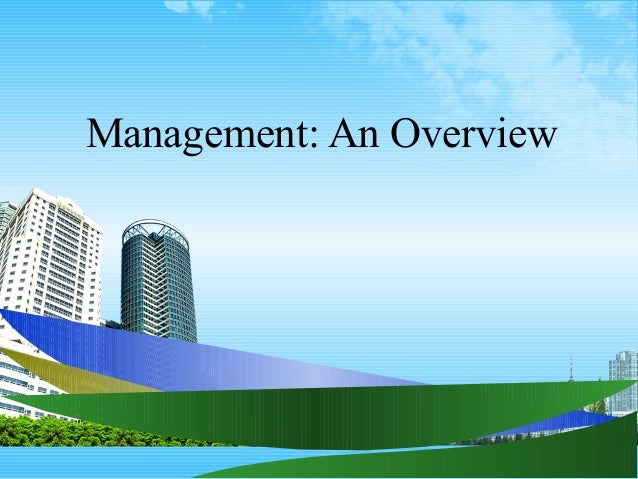 Management: An Overview