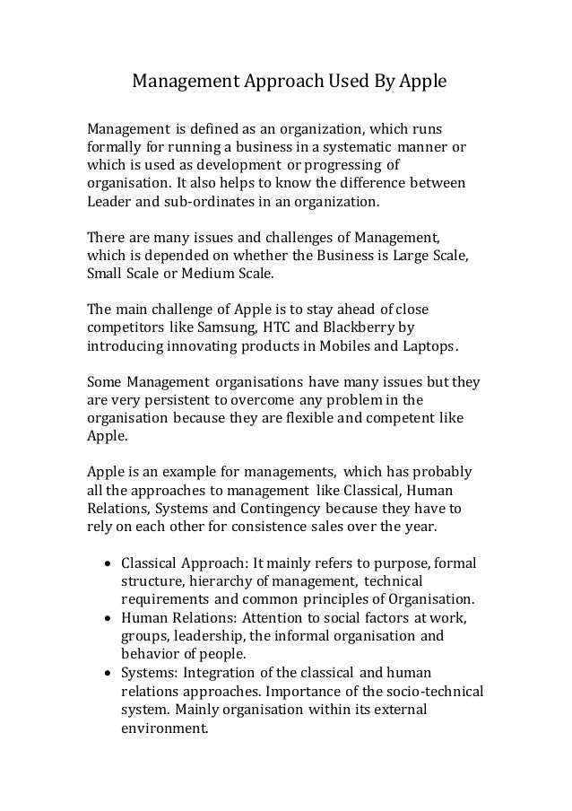 "apple inc management style Leadership lessons from apple ceo tim going forward would ""depend on new chief tim cook and rest of apple's management team,"" and that ""despite."