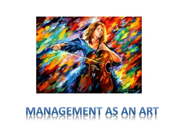 Management an art or a