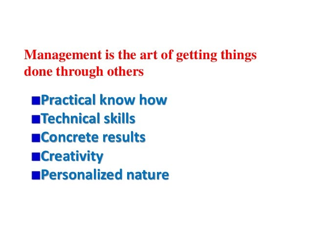 Is Management—Art, Science or Profession?