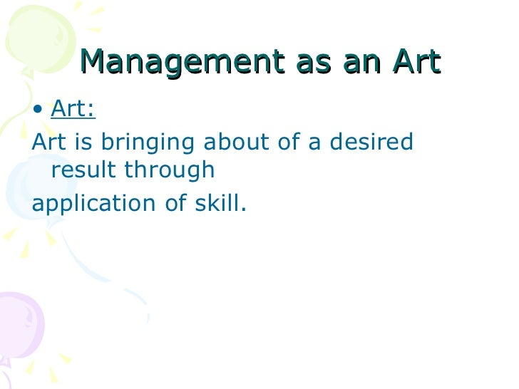 MANAGEMENT ART SCIENCE PROFESSION EBOOK