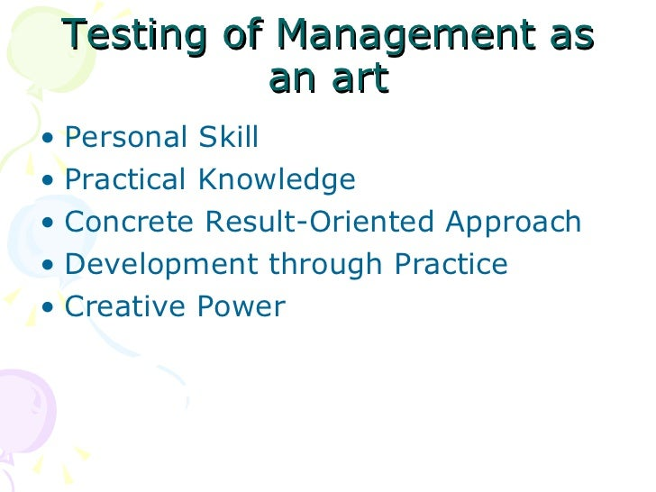 Management art science and profession