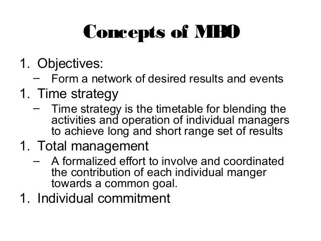 manage by objective template - management by objective mbo