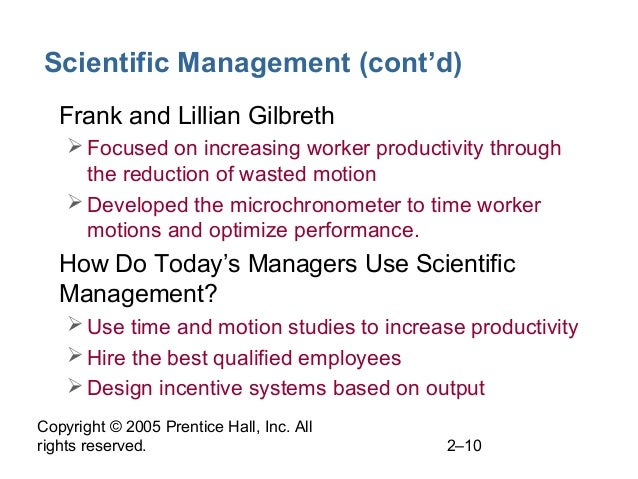 What Are Examples of Scientific Management?