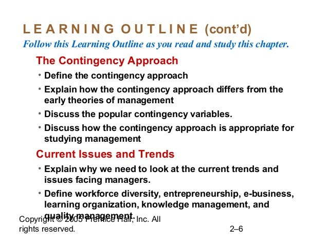 Copyright © 2005 Prentice Hall, Inc. All rights reserved. 2–6 L E A R N I N G O U T L I N E (cont'd) Follow this Learning ...