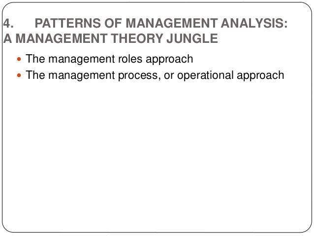 management theory jungle The management of theory jungle it was harold koontz who introduced the concept of management theory jungle management theory jungle was made in an environment where the development of management theory had escalated over a period of two decades.