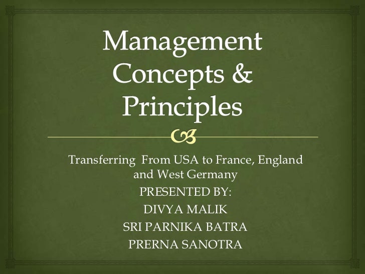 5 management principles and concepts Learn management concepts chapter 5 with free interactive flashcards choose from 500 different sets of management concepts chapter 5 flashcards on quizlet.