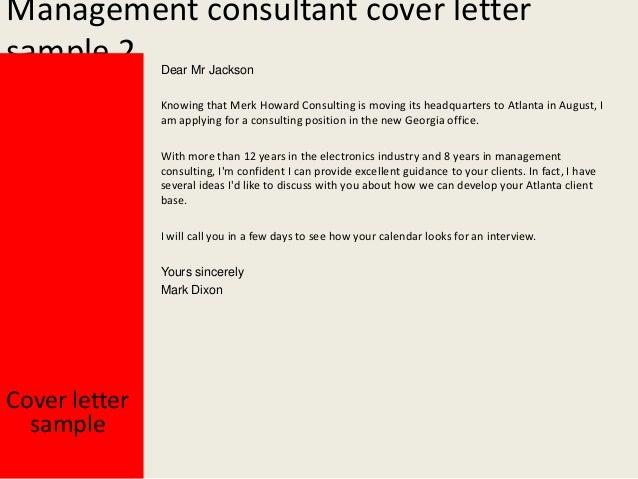 Management Consultant ...