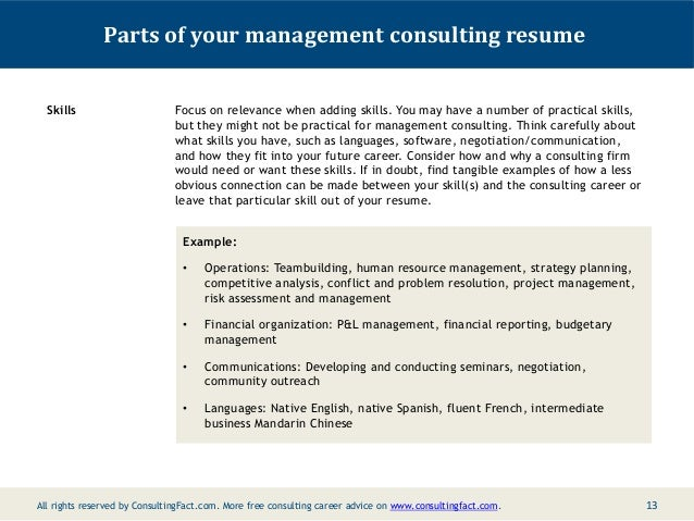 sample resume consulting resume cv cover letter
